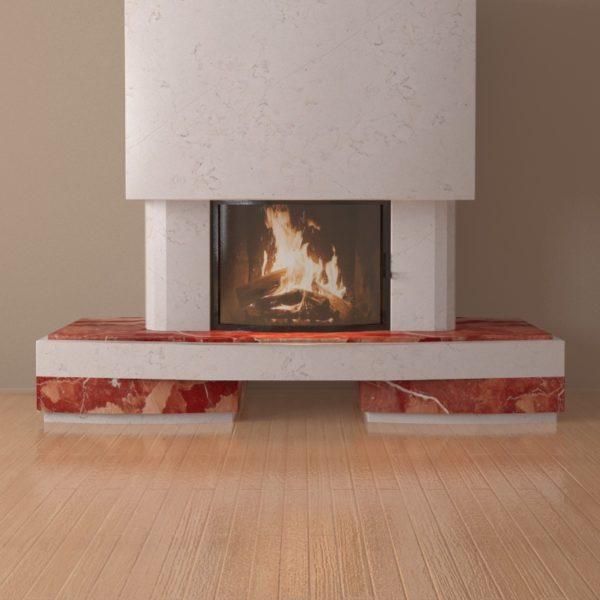 Мраморный каминный портал (облицовка) Сицилия, каталог (интернет-магазин) каминов из мрамора, изображение, фото 3