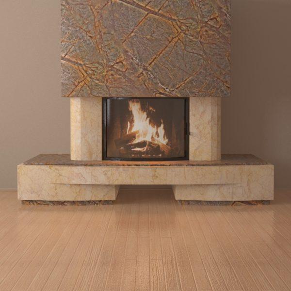 Мраморный каминный портал (облицовка) Сицилия, каталог (интернет-магазин) каминов из мрамора, изображение, фото 4