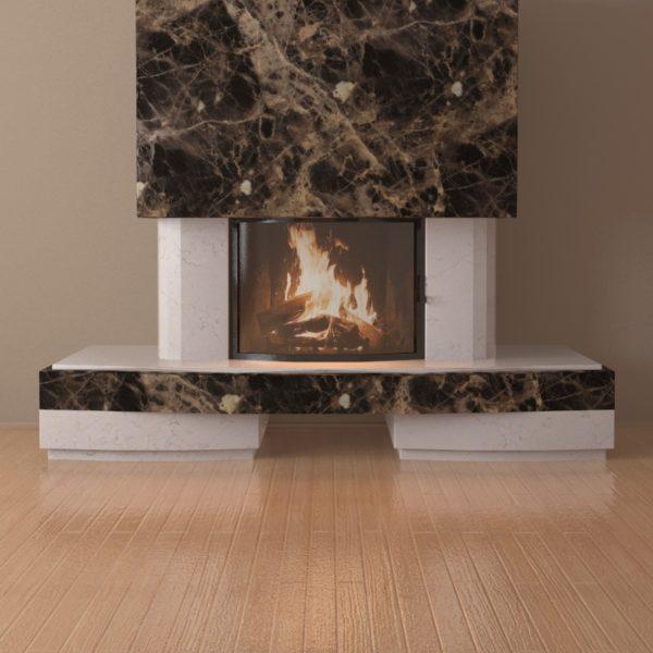 Мраморный каминный портал (облицовка) Сицилия, каталог (интернет-магазин) каминов из мрамора, изображение, фото 5