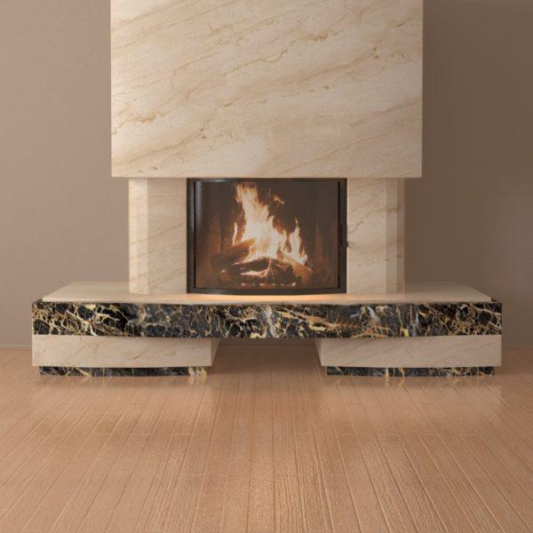 Мраморный каминный портал (облицовка) Сицилия, каталог (интернет-магазин) каминов из мрамора, изображение, фото 6