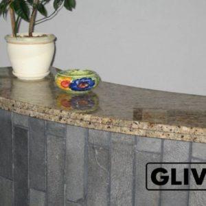 Барная стойка для бара из натурального камня (гранита) Сиена, изображение, фото 1