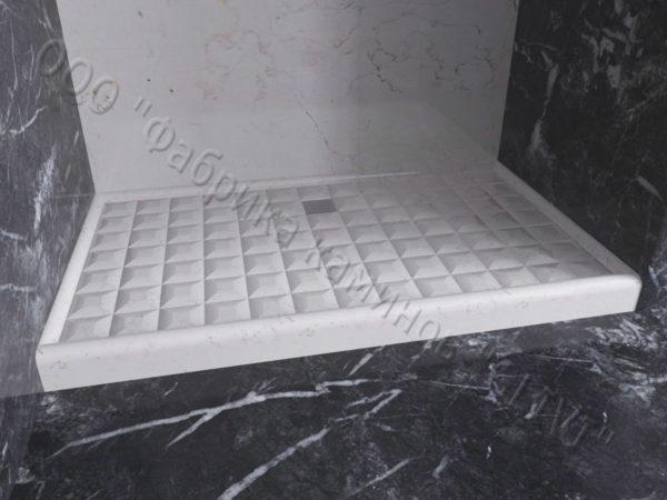 Поддон для душа Сильвия мраморный, каталог душевых поддонов из камня, изображение, фото 1