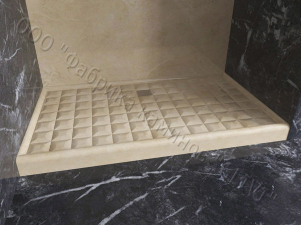 Поддон для душа Сильвия мраморный, каталог душевых поддонов из камня, изображение, фото 2