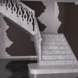 Лестница из натурального мрамора Сирин, интернет-магазин лестниц, изображение, фото 1