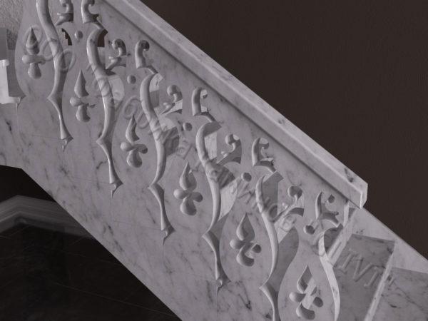 Лестница из натурального мрамора Сирин, интернет-магазин лестниц, изображение, фото 3