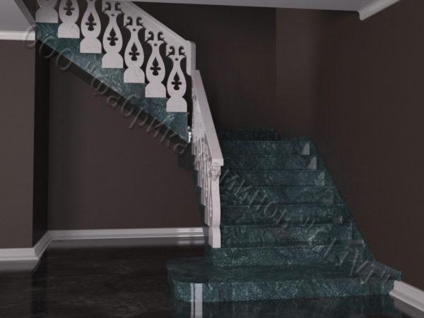 Лестница из натурального мрамора Сирин, интернет-магазин лестниц, изображение, фото 5