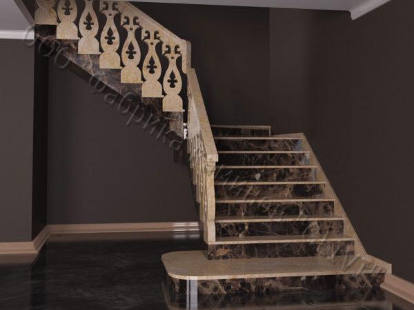 Лестница из натурального мрамора Сирин, интернет-магазин лестниц, изображение, фото 6