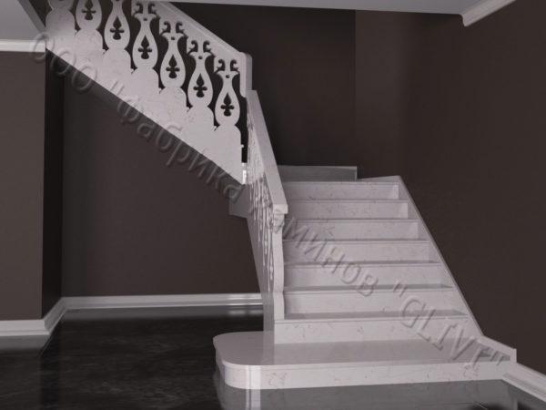 Лестница из натурального мрамора Сирин, интернет-магазин лестниц, изображение, фото 9