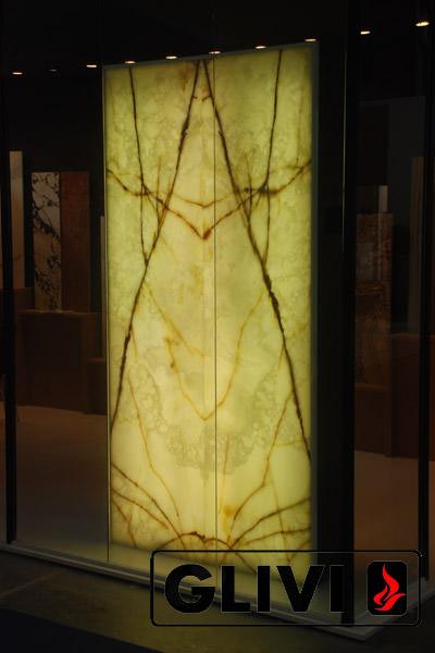 Декоративная подсветка плиты из оникса Спика, изображение, фото 1