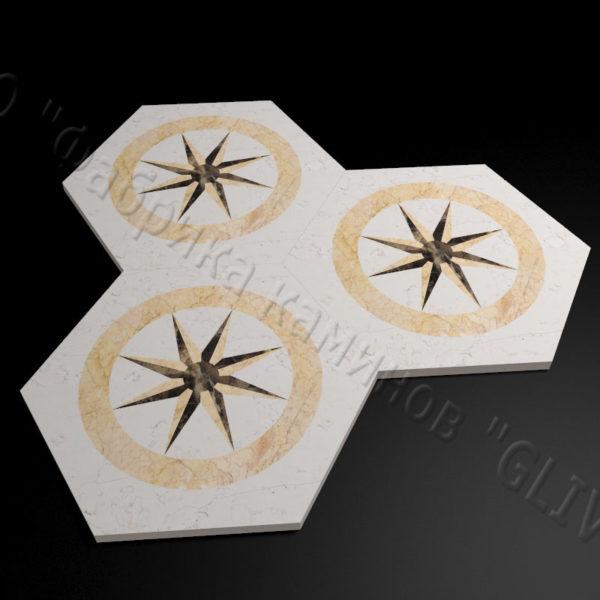 Плитка из натурального мрамора Стар, изображение, фото 1