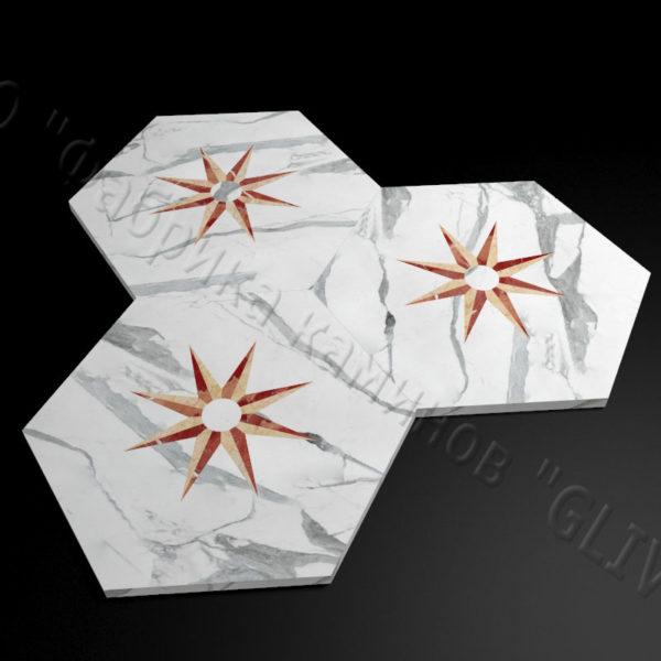 Плитка из натурального мрамора Стар, изображение, фото 3