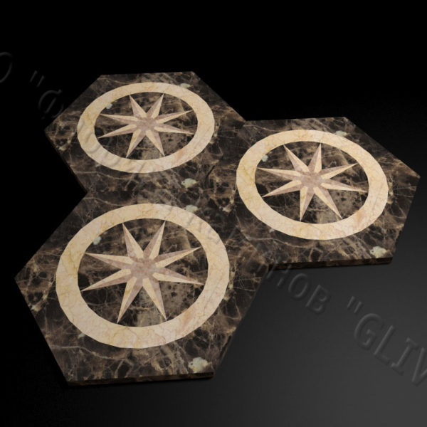 Плитка из натурального мрамора Стар, изображение, фото 4