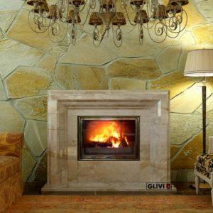 Мраморный каминный портал (облицовка) Стефания, каталог (интернет-магазин) каминов из мрамора, изображение, фото 1