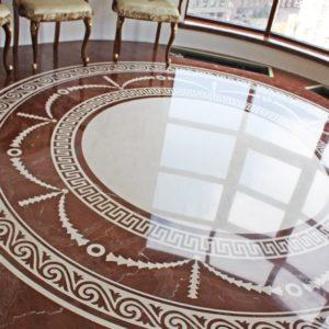 Мозаичный пол из натурального мрамора Стикс, интернет-магазин полов, изображение, фото 1