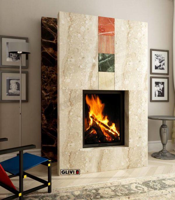 Мраморный каминный портал (облицовка) Тасмания, каталог (интернет-магазин) каминов из мрамора, изображение, фото 1