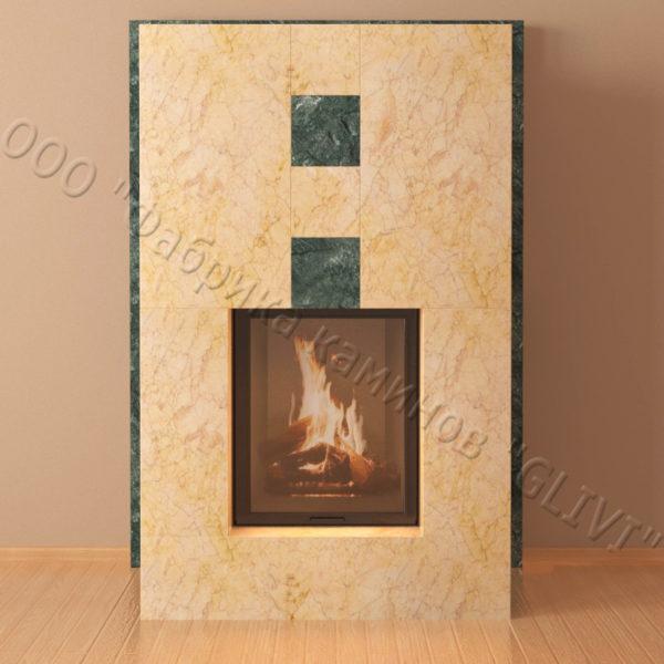 Мраморный каминный портал (облицовка) Тасмания, каталог (интернет-магазин) каминов из мрамора, изображение, фото 2