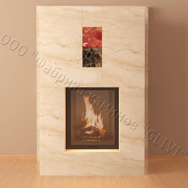 Мраморный каминный портал (облицовка) Тасмания, каталог (интернет-магазин) каминов из мрамора, изображение, фото 3