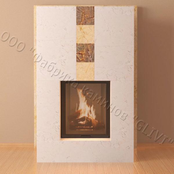 Мраморный каминный портал (облицовка) Тасмания, каталог (интернет-магазин) каминов из мрамора, изображение, фото 4