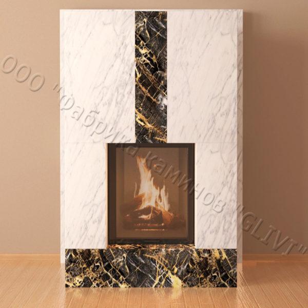 Мраморный каминный портал (облицовка) Тасмания, каталог (интернет-магазин) каминов из мрамора, изображение, фото 5