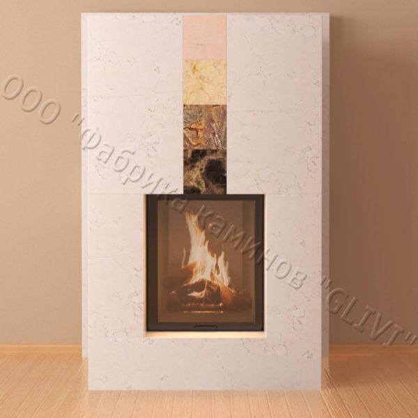 Мраморный каминный портал (облицовка) Тасмания, каталог (интернет-магазин) каминов из мрамора, изображение, фото 6