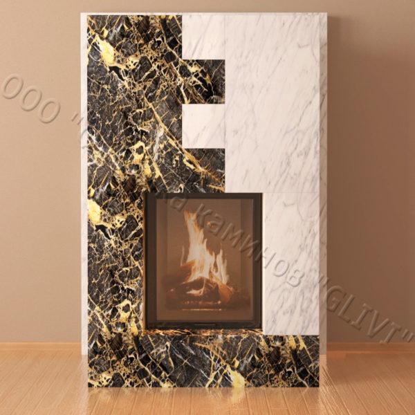 Мраморный каминный портал (облицовка) Тасмания, каталог (интернет-магазин) каминов из мрамора, изображение, фото 7