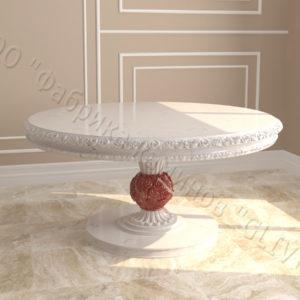 Стол из натурального камня (мрамора) Тривия 1, интернет-магазин столов, изображение, фото 1