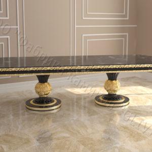 Стол из натурального камня (мрамора) Тривия 2, интернет-магазин столов, изображение, фото 1