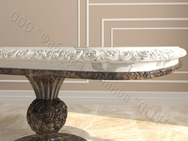 Стол из натурального камня (мрамора) Тривия 2, интернет-магазин столов, изображение, фото 2