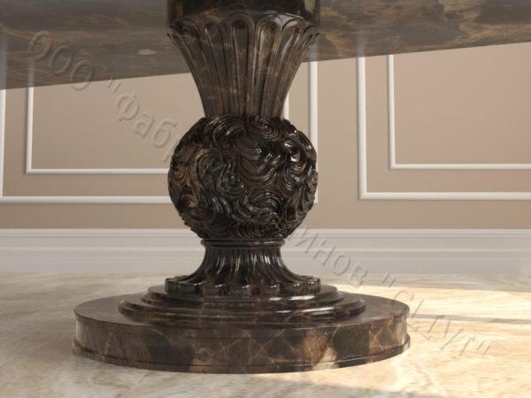 Стол из натурального камня (мрамора) Тривия 2, интернет-магазин столов, изображение, фото 3