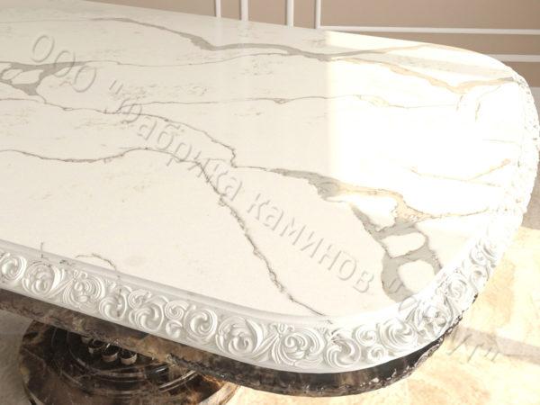 Стол из натурального камня (мрамора) Тривия 2, интернет-магазин столов, изображение, фото 4