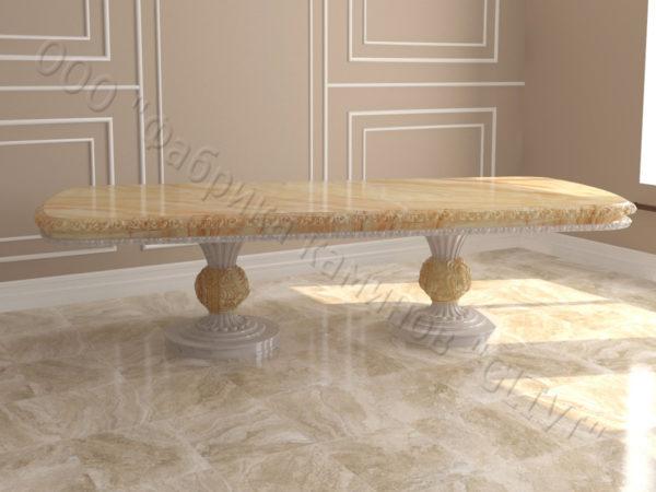 Стол из натурального камня (мрамора) Тривия 2, интернет-магазин столов, изображение, фото 5