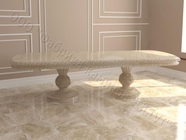 Стол из натурального камня (мрамора) Тривия 2, интернет-магазин столов, изображение, фото 6