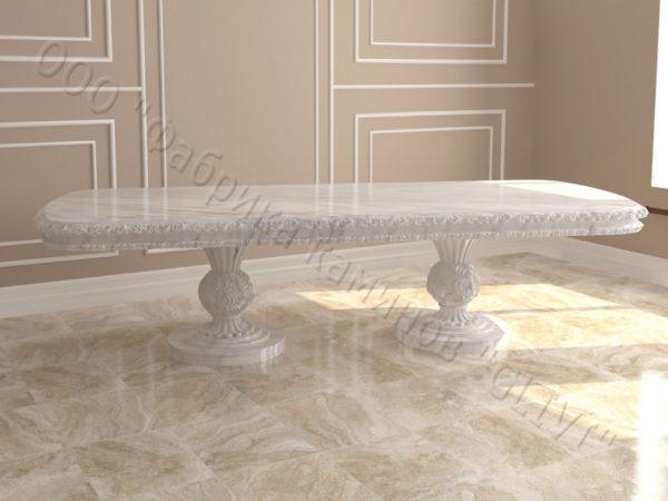 Стол из натурального камня (мрамора) Тривия 2, интернет-магазин столов, изображение, фото 7