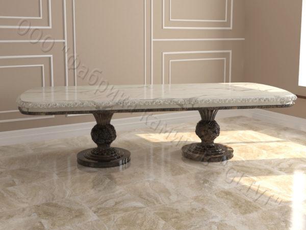 Стол из натурального камня (мрамора) Тривия 2, интернет-магазин столов, изображение, фото 8