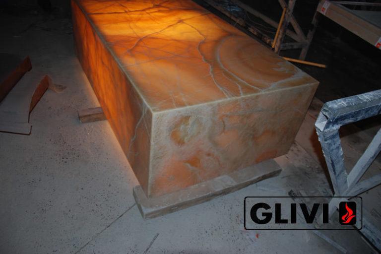 Декоративная подсветка плиты из оникса Урания, изображение, фото 3