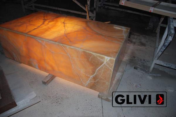 Декоративная подсветка плиты из оникса Урания, изображение, фото 4