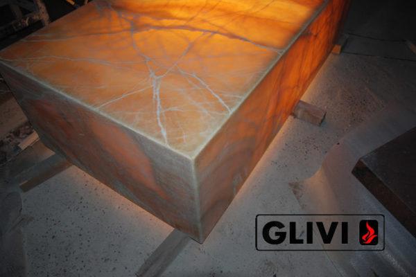 Декоративная подсветка плиты из оникса Урания, изображение, фото 5