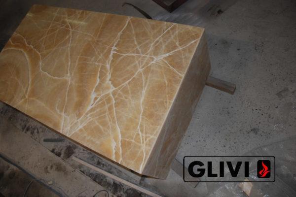 Декоративная подсветка плиты из оникса Урания, изображение, фото 7