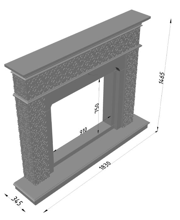 Мраморный каминный портал (облицовка) в восточном (арабском) стиле Ваиль, каталог (интернет-магазин) каминов из мрамора, изображение, фото 13
