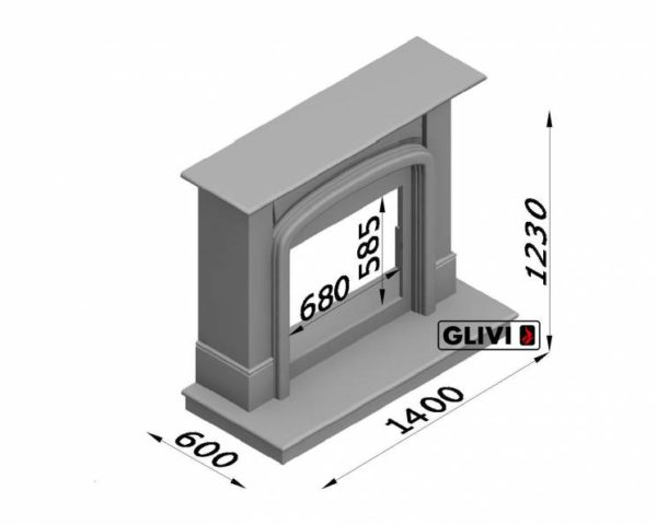 Мраморный каминный портал (облицовка) Венеция, каталог (интернет-магазин) каминов из мрамора, изображение, фото 7