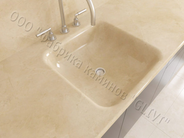 Мраморная мойка Векси, каталог раковин из камня, изображение, фото 1