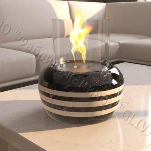 Мраморная облицовка (каминный портал) для камина на биотопливе Виармо, каталог (интернет-магазин) каминов из мрамора, изображение, фото 1