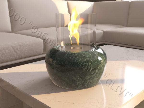 Мраморная облицовка (каминный портал) для камина на биотопливе Виармо, каталог (интернет-магазин) каминов из мрамора, изображение, фото 3