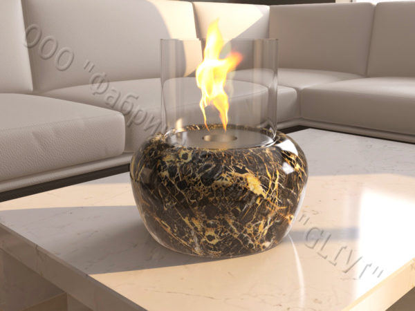 Мраморная облицовка (каминный портал) для камина на биотопливе Виармо, каталог (интернет-магазин) каминов из мрамора, изображение, фото 4