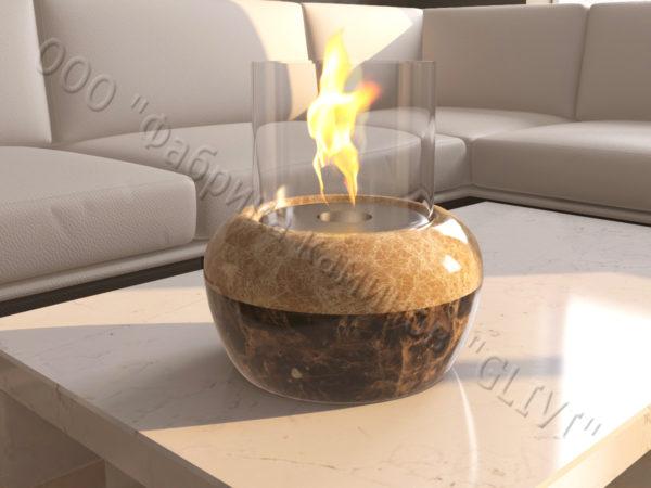 Мраморная облицовка (каминный портал) для камина на биотопливе Виармо, каталог (интернет-магазин) каминов из мрамора, изображение, фото 5