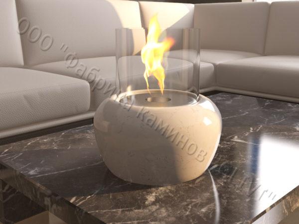 Мраморная облицовка (каминный портал) для камина на биотопливе Виармо, каталог (интернет-магазин) каминов из мрамора, изображение, фото 6