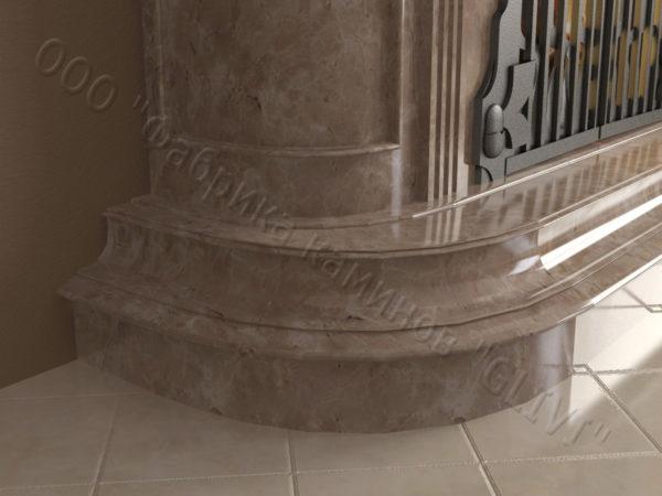 Мраморный камин с открытой топкой Вильгельм, каталог (интернет-магазин) каминов из мрамора, изображение, фото 4