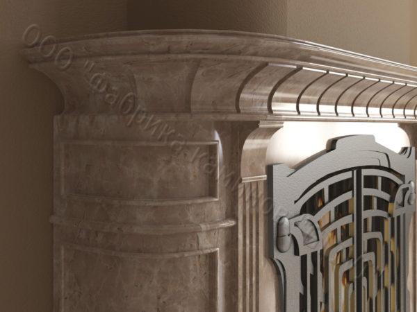 Мраморный камин с открытой топкой Вильгельм, каталог (интернет-магазин) каминов из мрамора, изображение, фото 5