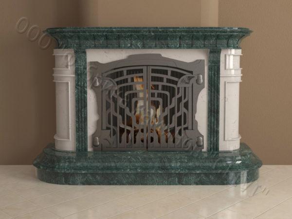 Мраморный камин с открытой топкой Вильгельм, каталог (интернет-магазин) каминов из мрамора, изображение, фото 8