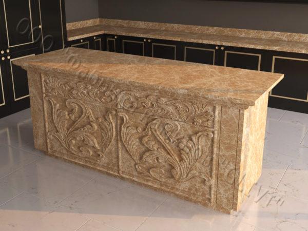 Барная стойка из натурального камня (мрамора) Вилорд, изображение, фото 5